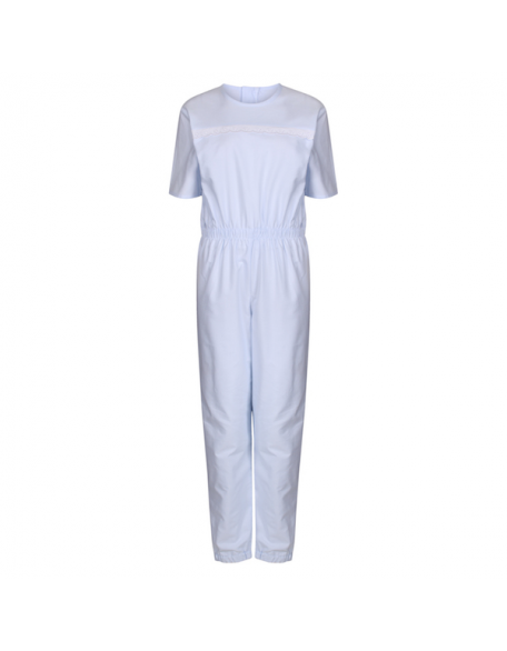 Women's Sleepsuit with Short Sleeves in Pale Blue