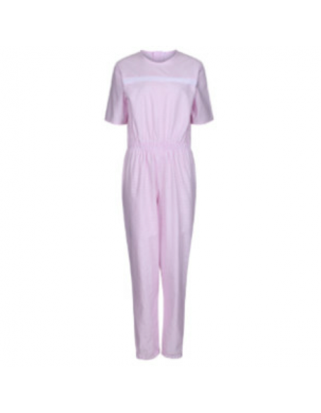 Women's Short-Sleeved Sleepsuit in Pink