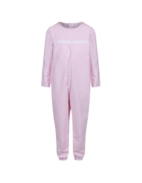 Girl's Long-Sleeved Sleepsuit in pink