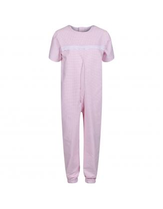 Girls Short-Sleeved Sleepsuit in Pink