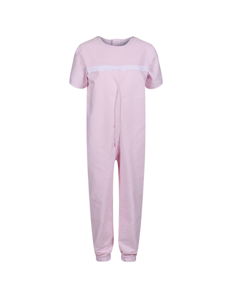 Girls Short-Sleeved Sleepsuit in Pink