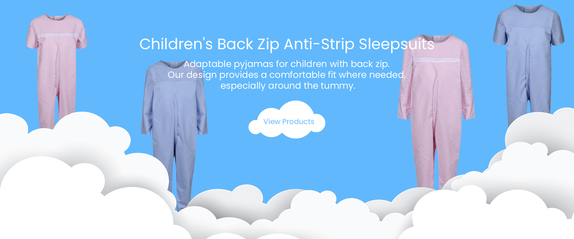 Children's Back Zip Anti-Strip Sleepsuits
