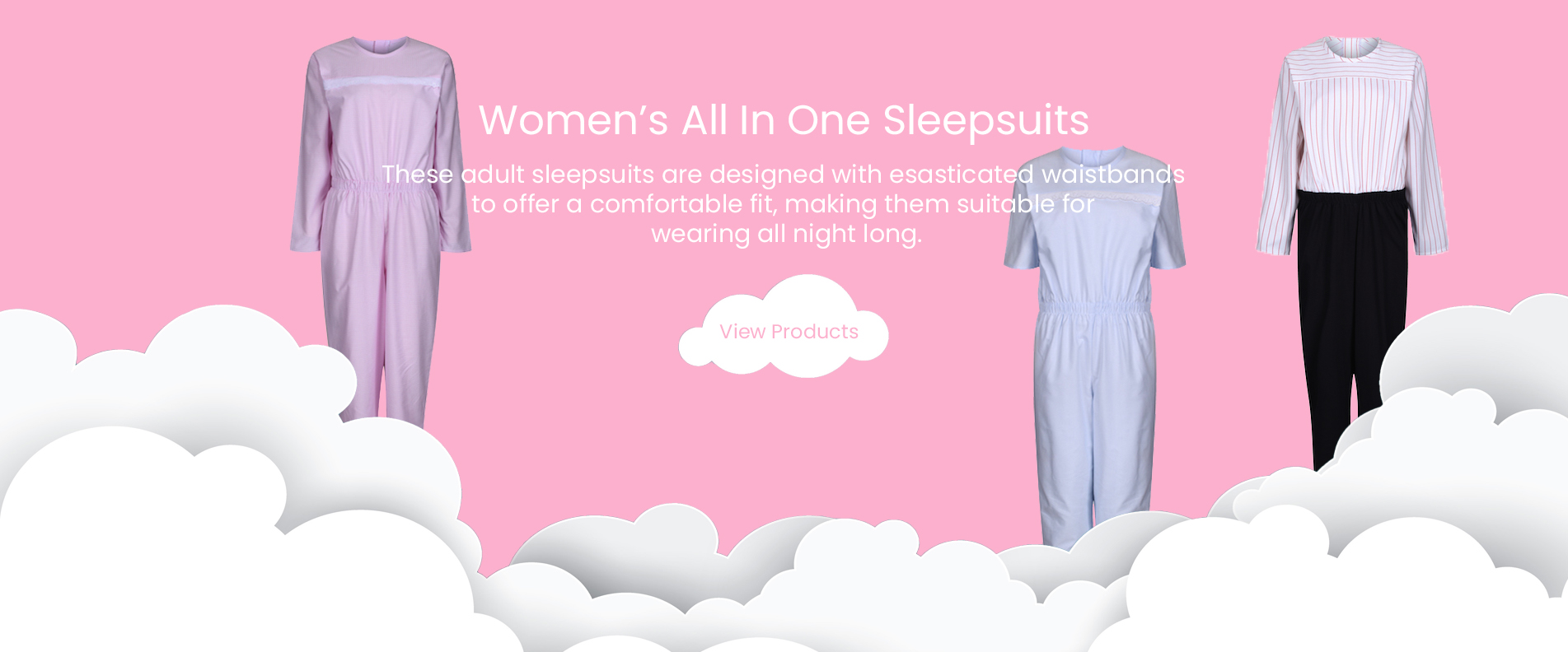 Women's All In One Sleepsuits